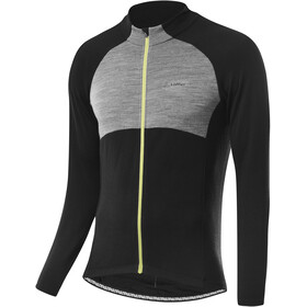 Löffler Pace Wool Maglietta Da Ciclismo A Maniche Lunghe Uomo, nero/grigio